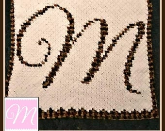 C2C Graph, Letter M, Baby Afghan, C2C Graph, and Written Word Chart