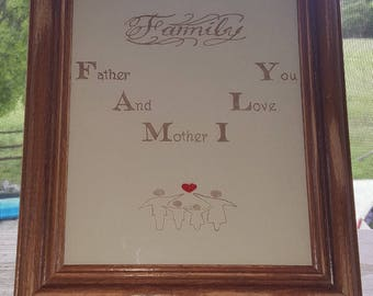 Meaning of Family hand etched picture