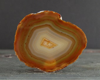 Fabulous Slice Agate cabochon, Semiprecious stone , Jewelry making Supplies S7337
