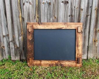 Rustic Chalkboard 45x22, Chalkboard Sign, Wedding Sign, Engagement Party, Rustic Wedding, Framed Chalkboard