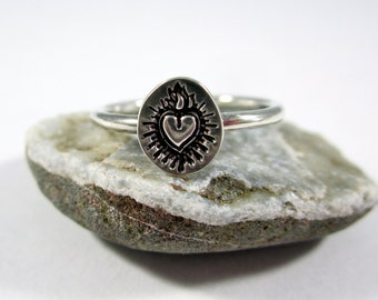 Immaculate Heart Sterling Silver Ring
