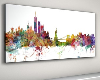 New York Skyline Canvas, New York City Cityscape Canvas Art Print (906)
