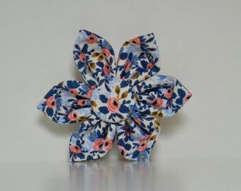 Blue Pink Floral Dog Collar Flower Le Fleur Wedding Accessories Spring Summer Collar Made to Order