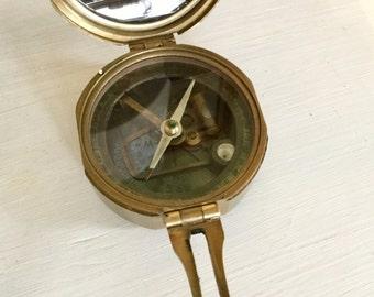 Vintage Nautical Compass Natural Sine Stanley London