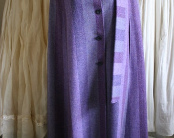 Womens Vintage Avoca Collection Ireland Long Wool Cape S Small