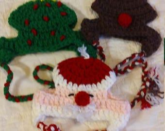 Pet Hat, Santa Pet Hat, Christmas Tree Pet Hat, Reindeer Pet Hat