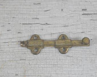 Vintage Brass Lock Brass Slide Lock Possibly Ives #2