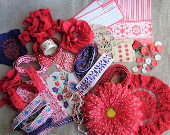 Vintage Red Trim Inspiration Kit