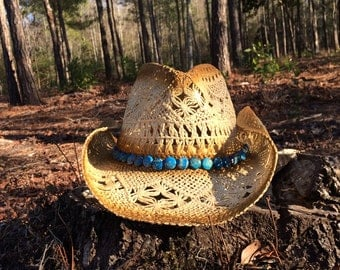 Stunning Cowgirl Hat with Variscite Band