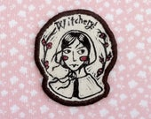 salem witch girl Patch - Brown edging