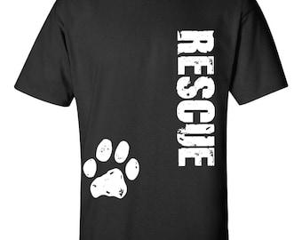 Dog Rescue Clothing, Dog Rescue Shirt, Dog Rescue Apparel, Distressed Rescue Dog Shirt, Animal Rescue Shirt, Pet Rescue Shirt, Cat Rescue