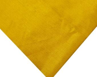 Indian Silk Fabric - Pure Silk Dupioni - Raw Mulberry Silk - Sunny Yellow Raw Silk - Indian Dupioni Silk -Dupioni Silk