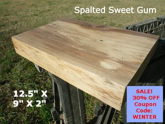 Live edge shelf finished sweet gum wood slab by for Finished wood slabs