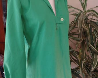 Wearin' of the Green 1960's Pull Over Cotton Light Jacket Sz12 Wilroy Traveller