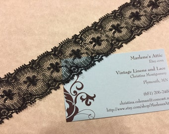 1 yard of 1 1/4 inch Black Chantilly lace trim for halloween, lingerie, goth, steampunk, garter, hair acc by MarlenesAttic - Item 5SS