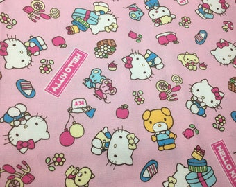 "Sanrio Character Fabric Hello Kitty & Friends Remnant 14""x42"""