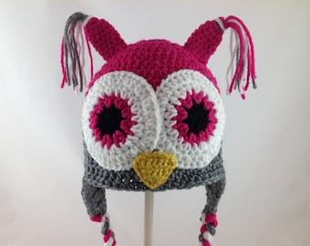 Baby Owl Hat - Owl Nursery- Baby Shower Gift - Infant Hat - Baby Girl Owl Hat - Owl Hat Prop - Newborn Photograpy Prop - Baby Boy Owl Hat
