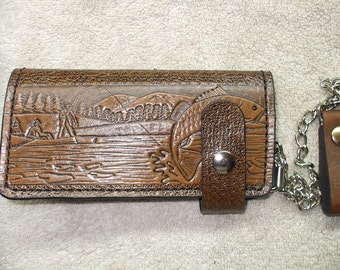 fishing long chain wallet./ biker wallet.  ships same day as ordered.