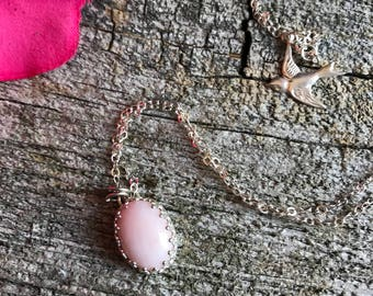 Pink Opal Necklace