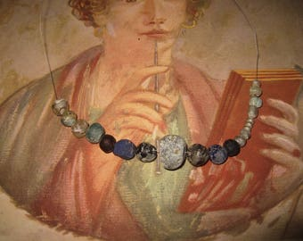 17 ancient glass beads