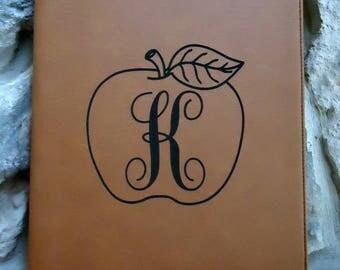 TEACHER APPRECIATION Gift, Personalized  Leatherette Portfolio, Monogrammed Portfolio, Portfolio with Logo, Portfolio with Brand, Graduation