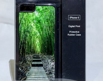 iPhone 6 Protective Case Cover w/ Maui Bamboo Forest Trail
