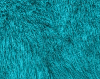 Fun Monkey Fur Turquoise 60 Inches Fabric by the Yard, 1 yard