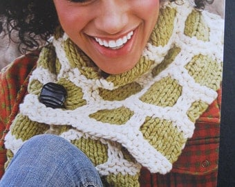 "Spud & Chloe Knitting Pattern, Bumble Up Scarf, number 9202, Advanced Beginner level, 8.75"" X 28"", designer Kim Hamlin, honeycomb pattern"