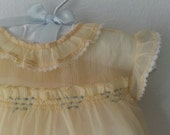 BUTTERCUP Yellow Party Dress for Baby / Vintage 50s