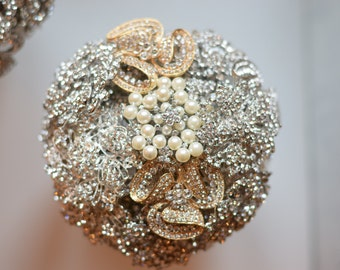 Matching boutineer Ready to Ship Custom Brooch Bouquet MINI Bouquet Christmas Gift