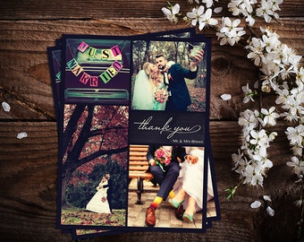 Wedding Thank You Cards Multiple Pictures Custom