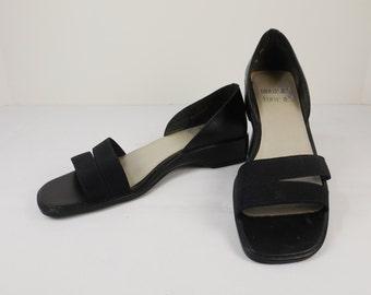 MOOTSIES TOOTSIES Black Sandals Size 7-1/2M 7.5M