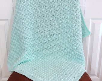 Crochet Baby Blanket, Boy or Girl, Toddler Afghan, Crib Bedding