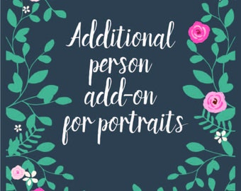 Additional Person/Pet(s) Add-On For Custom Portrait Illustrations