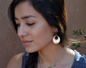 Prominent oxidized sterling silver earrings - cultural earrings -