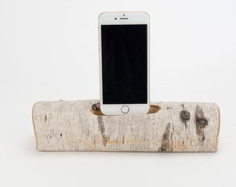 Docking Station for iPhone, iPhone dock, iPhone Charger, iPhone Charging Station, iPhone driftwood dock, wood iPhone dock/ Driftwood-No. 981