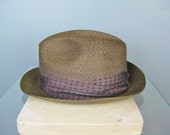 Mens Gray Fedora / Vtg 60...