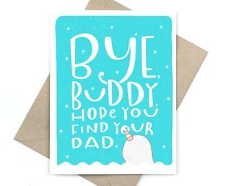 bye buddy card - elf holiday card