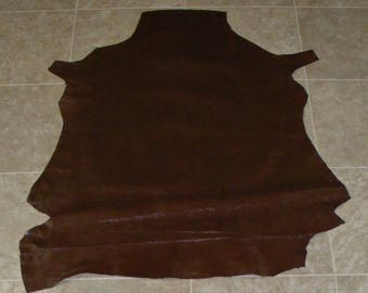 SIZ8085-10) Hide of Brown Lambskin Leather Skin