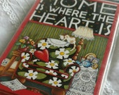 "Mary Englebreit NOS Note Cards Stationary ""Home is where the heart is"" Scrapbboking Supply"