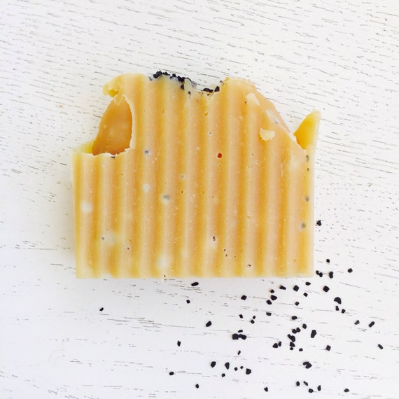 Lemongrass Soap - Hiwa Kai Black Hawaiian Sea Salt and Lemongrass Organic Coconut Milk  - All Natural Handmade Soap - Vegan