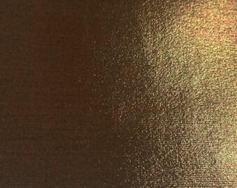 Solid Metallic Foil Spandex Chocolate 60 Inch Fabric by the yard - 1 Yard