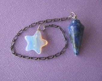 Dowsing Pendulum, Chakra Balancing, Crystal Healing, Sodalite, Opalite, Dowsing, Divining, Reiki