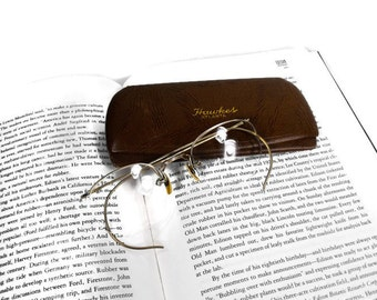 Vintage Spectacles - Hawkes Eyeglasses of Atlanta, Spectacles and Leather Case, Mid Century Spectacles, Pre War Spectacles
