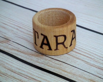 TARA wood napkin ring, rustic wedding decor, wood home decor, minimalist napkin rings,  place card, ready to ship