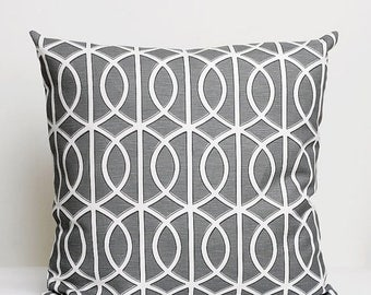 On sale 10% OFF Designer Pillow Cover - shams - decorative covers- 18x18 Dwell Studio, grey