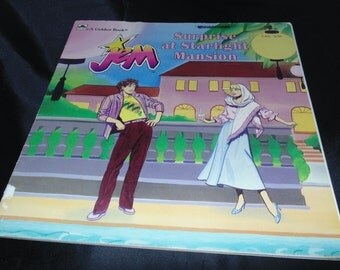 Vintage 1986 Jem Surprise at Starlight Mansion Sara Highes Golden book Western Publishing Illustrated Hasbro
