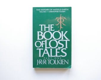JRR Tolkien - The Book of Lost Tales Vol. 1 - 1984 - History of Middle Earth - Large Paperback