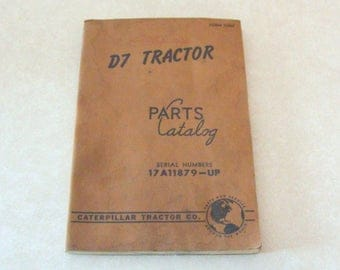 1959 Caterpillar D7 Tractor Parts Catalog