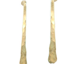 Hammered Bar Stick Earrings, 14k gold filled, sterling silver, 14k rose gold filled